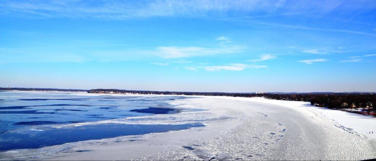 Lake Wingra On Cold December Day This >> It S Official Ice On For Lake Mendota Clean Lakes Alliance