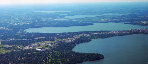 Aerial Yahara Watershed