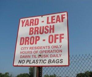 Yard-Leaf-Brush Drop-Off Site