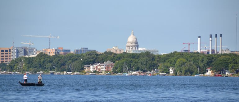 View of the Isthmus from Lake Monona