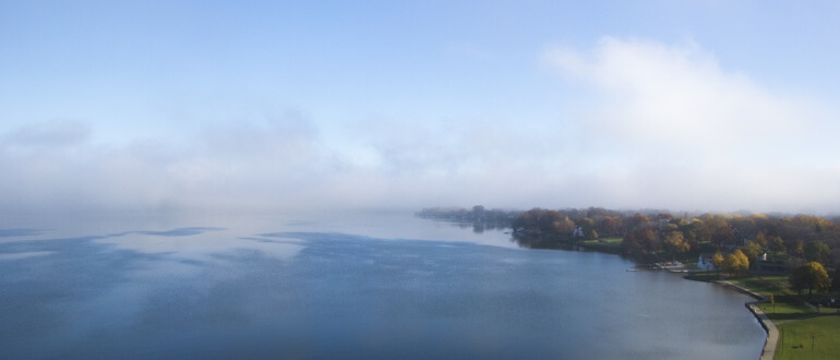 James Madison Park Lake and Fog