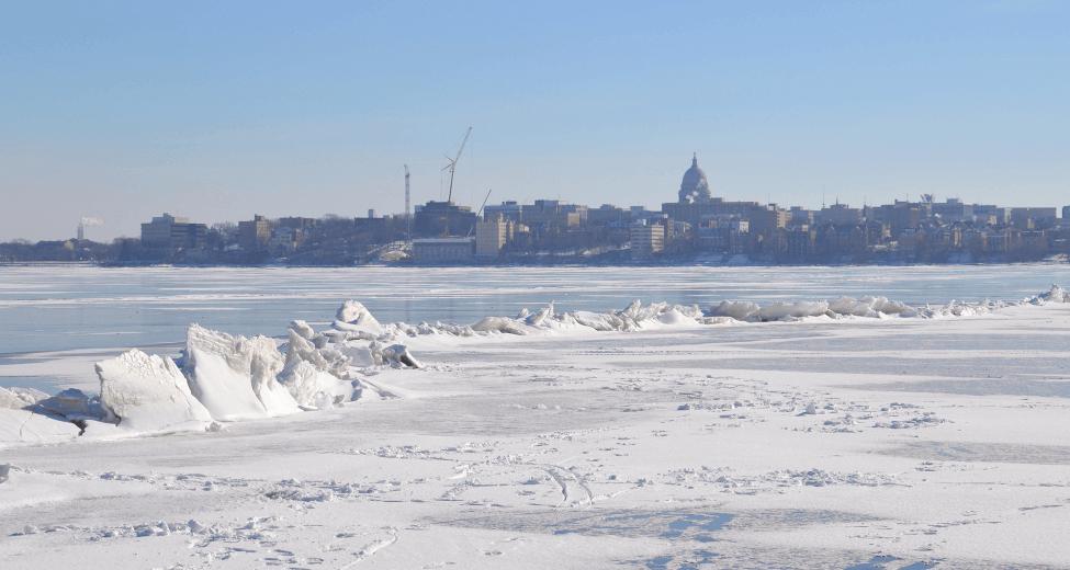 Mendota Freeze Contest - Frozen Lake Mendota