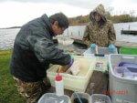 volunteers tagging carp on Lake Kegonsa