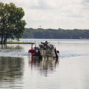Aquatic Plant Harvesting on Lake Waubesa