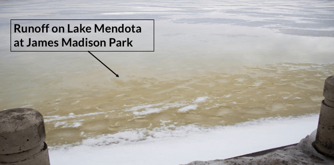 February Rain Runoff in Lake Mendota