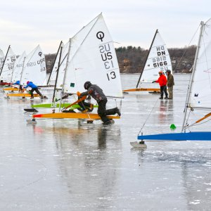 Ice Boats on Lake Kegonsa