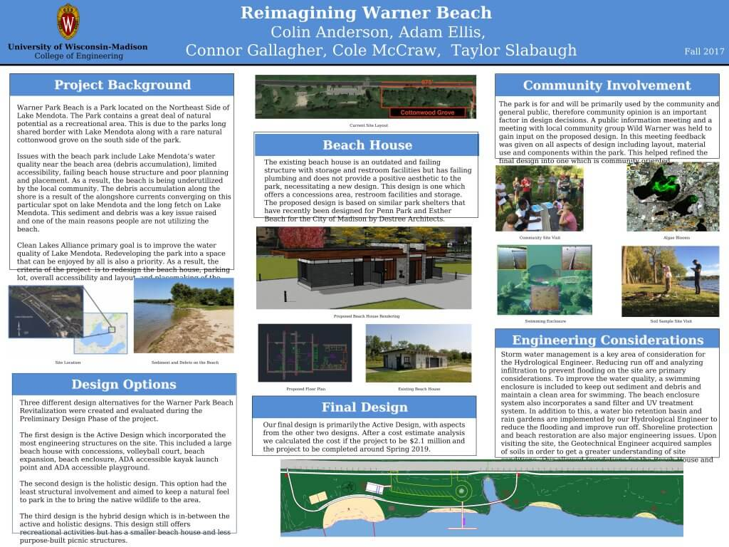 Team 4 Warner Beach poster fall 2017