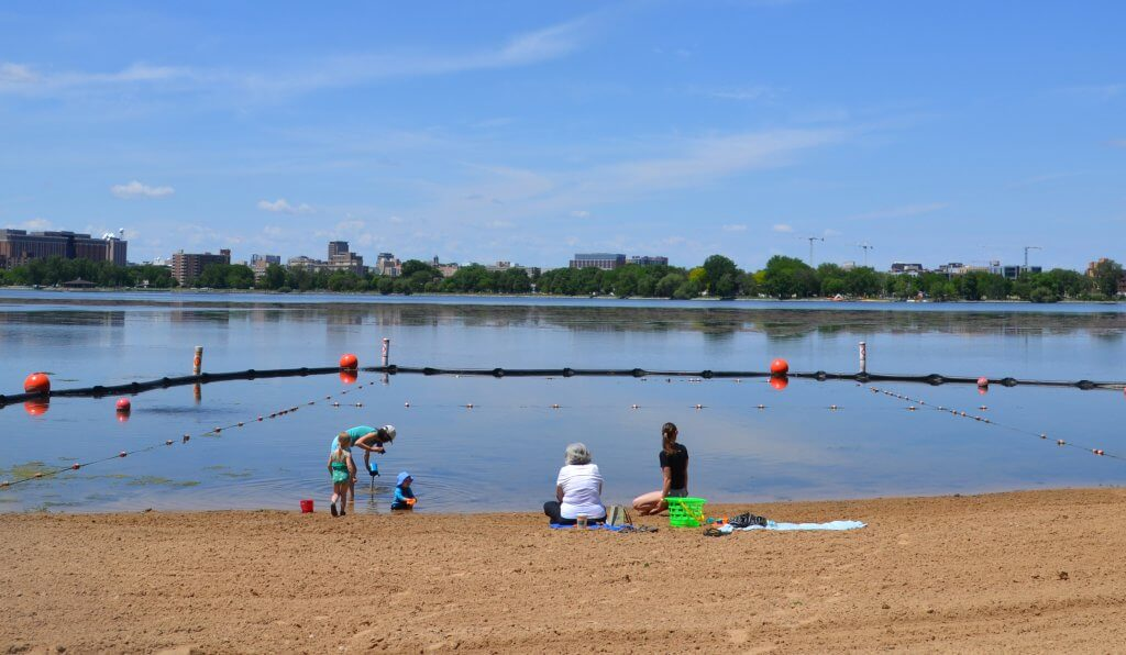 Bernies Beach on Monona Bay - the Yahara CLEAN Compact will help improve and protect our Yahara lakes