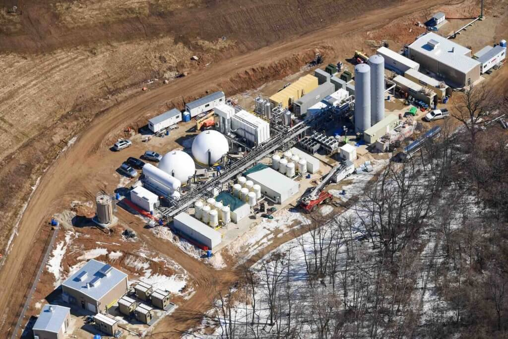 Renewable natural gas off-loading station
