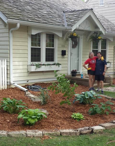 Anna & Jesse Ganz are Madison residents that built a rain garden