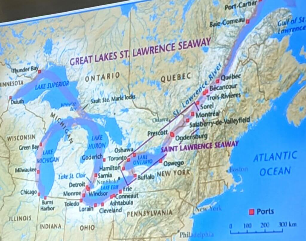 St. Lawrence Seaway Shipping Route