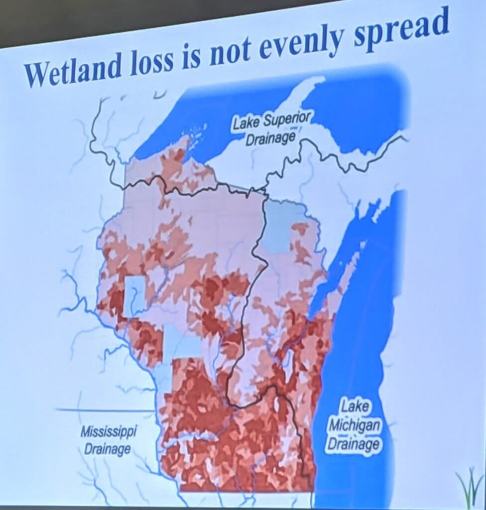 Wisconsin Wetland Loss Map