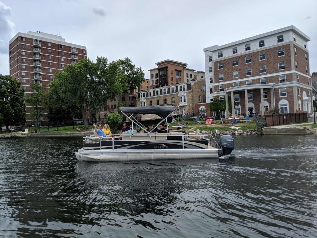 YWA graduation day - June2019 - LakeMendotaPontoon