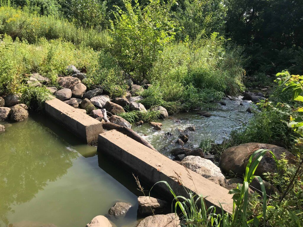 Stormwater retention pond in Middleton made possible through Clean Lakes Grants