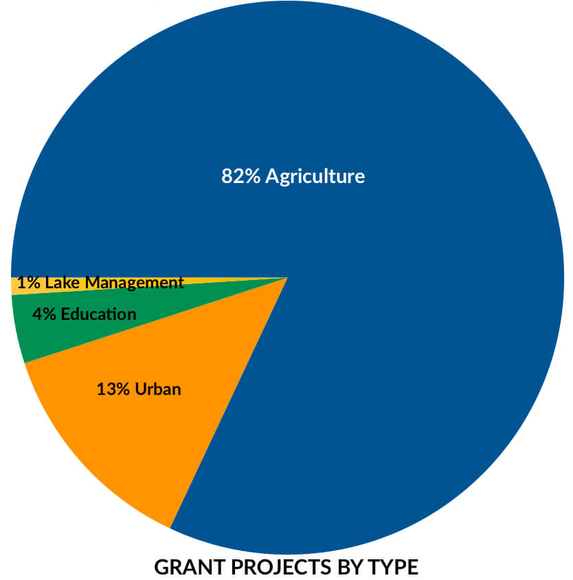 Grants graph - type of project 2019