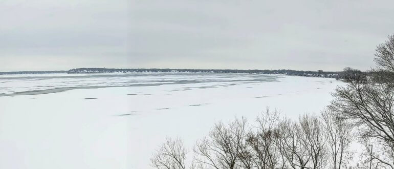 Panoramic Photo of Lake Mendota on 13 January 2020