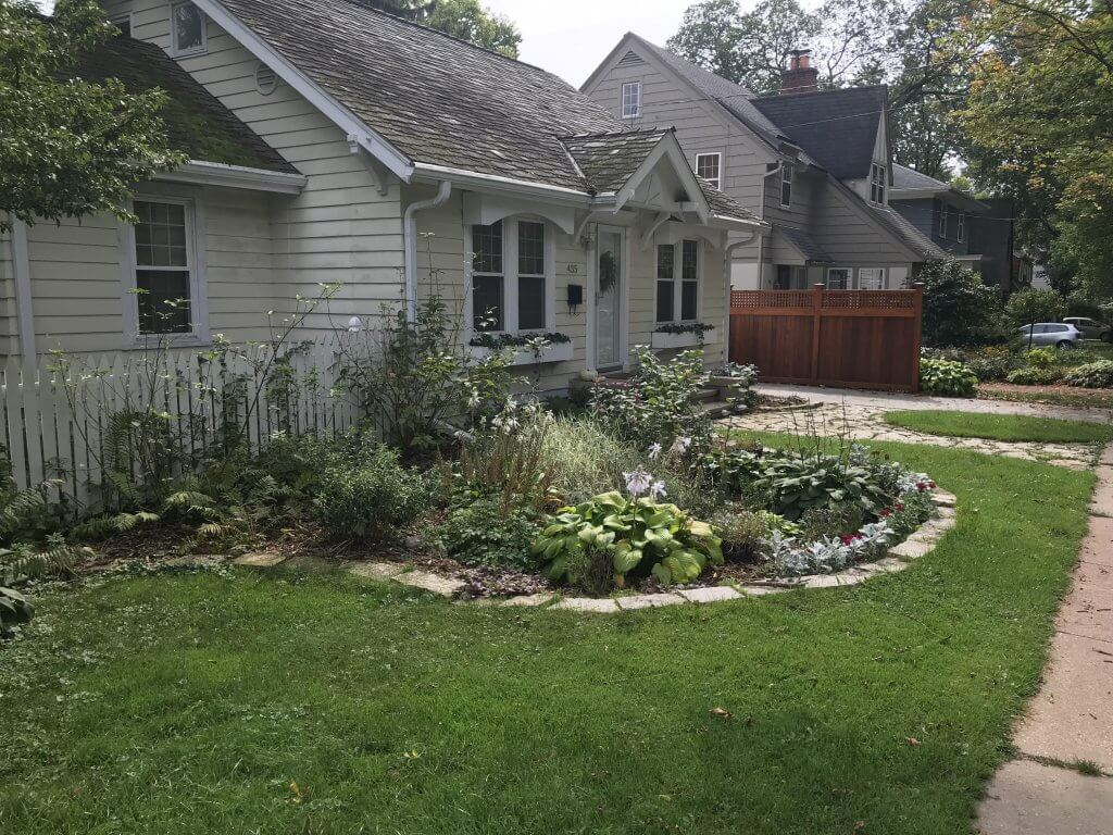 Example of a rain garden in Madison, WI