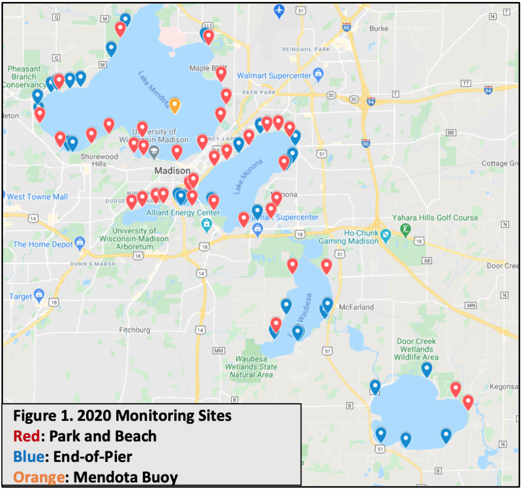 2020 water quality monitoring sites