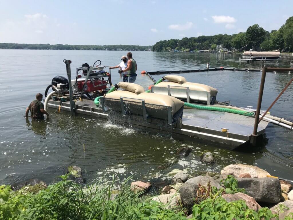 New Dane County lake technology - in-lake algae vacuum