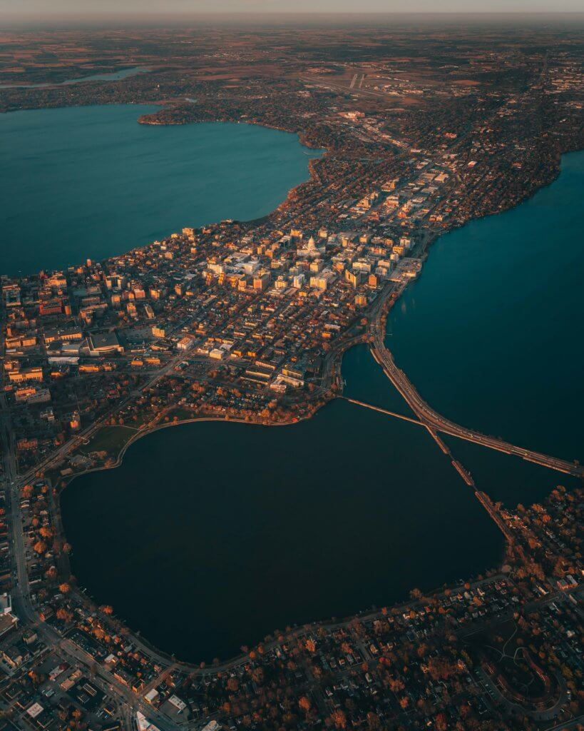 Isthmus from above, courtesy of Samuel Li