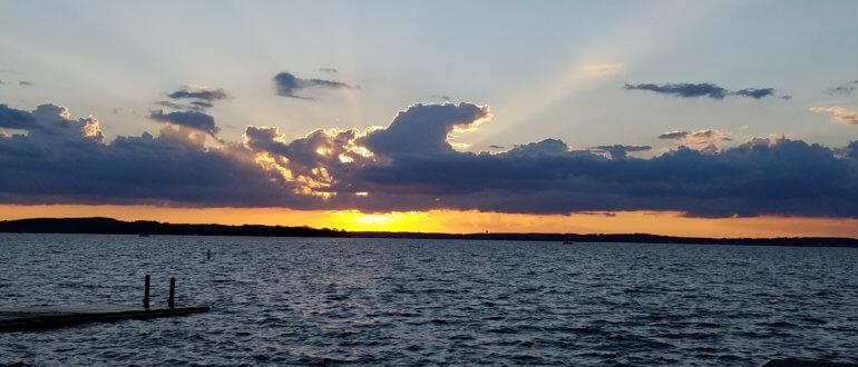 Sunset over Lake Mendota