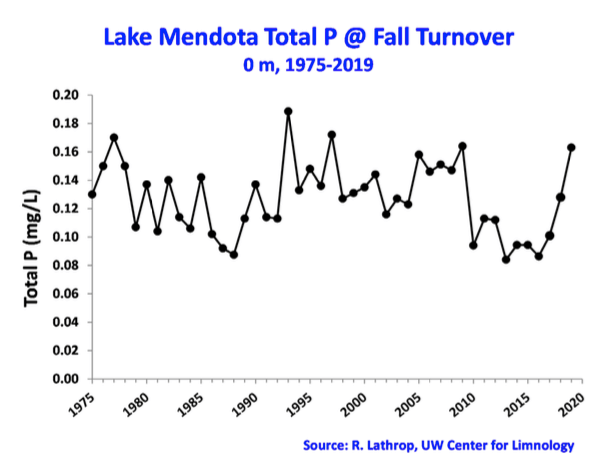 Lake Mendota Total Phosphorus at Fall Turnover 2019