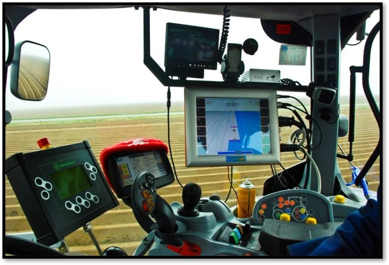 Precision ag and conservation technology inside farm equipment