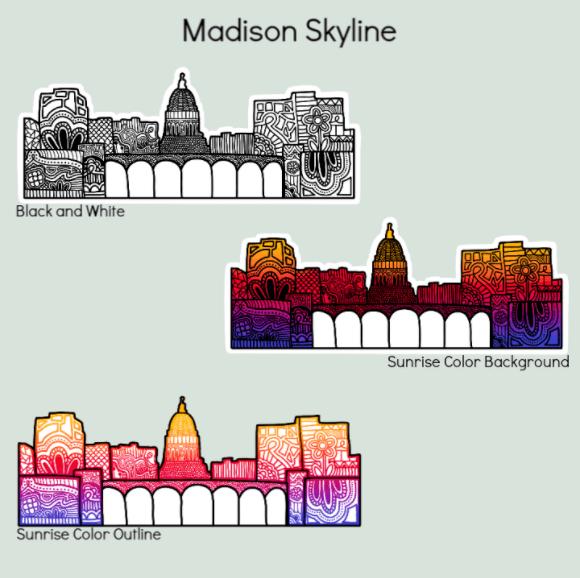 Eliza Makes Art - Madison Skyline
