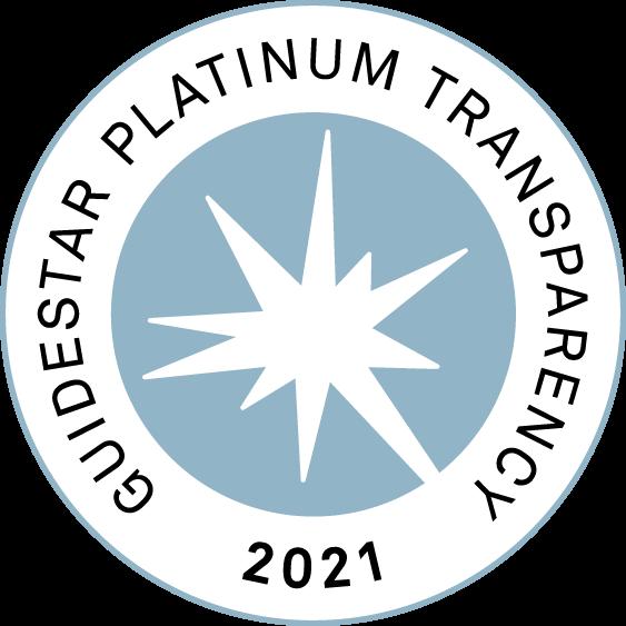GuideStar Seal 2021 - Platinum Seal of Transparency