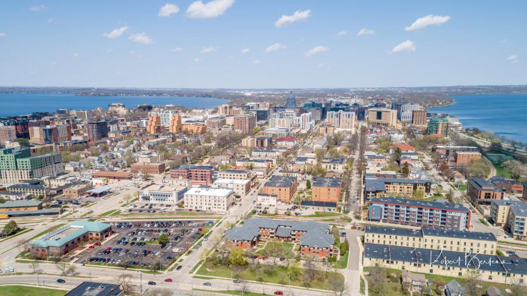 View of Madison's downtown, courtesy Robert Bertera